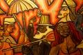 Danse de Candombe. Détail d'un tableau de Carlos Páez Vilaró du Musée du Carnaval de Montevideo