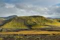 Paysage sur la piste F210 ouest entre les deux refuges d'Alftavatn et de Hvanngil sur le trek Landmannalaugar-Þorsmörk