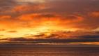 Le ciel orange du coucher du soleil