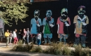 Street art à Johannesburg, quartier de Maboneng, oeuvre de Nelson Makamo
