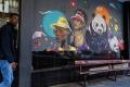 Peinture de Mr. Ekse à Braamfontein, Johannesburg