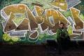 Street art à Braamfontein, Johannesburg. Daniel ton sur ton