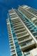 Gratte-ciel de Punta del Este. La couleur bleu domine dans l'architecture moderne de l'Uruguay