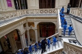 Ecoliers au Museo de Arte precolombino e indigena : en Uruguay comme en Argentine les écoliers et collégiens portent tous des uniformes