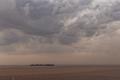 Rio de la Plata chargé de sédiments ocre en provenance de la région de Misiones, vu du phare de Colonia del Sacramento