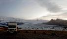 A notre arrivée en mai  2014 en Islande, bivouac au pied du glacier Breiðamerkurjökull