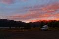Bivouac au Parc national de Conguillio au bord du lac éponyme au Chili