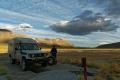 Permutation des roues au bivouac dans le Parc National Perito Moreno