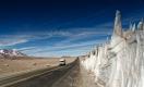 Route 31 juste avant la frontière entre le chili et l'Argentine au Paso San Francisco, côté Chili