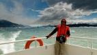 Daniel en croisière sur le lac Argentino