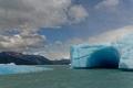 Nous passons près des icebergs sur le lac Argentino