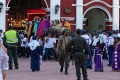 Toutes les communautés se rassemblent au départ de la procession du Jeudi Saint devant le Temple de San Francisco