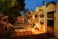 Illumination du cimetière de Mompox le Mercredi Saint
