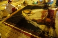 Concours d'alfombras, fresques de sol, le Mercredi Saint sur la place de l'Eglise de l'Immaculée Conception