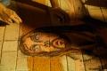 Concours d' alfombras, fresques de sol, le Mercredi Saint sur la place de l'Eglise de l'Immaculée Conception