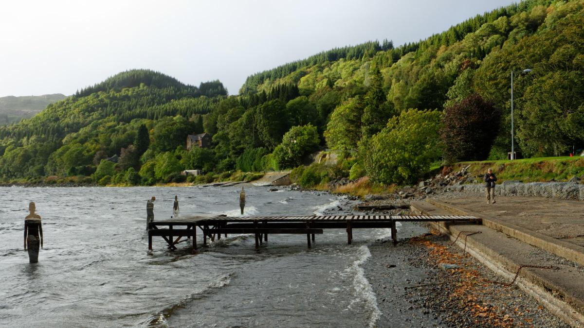 Marion au Loch Earn à St Fillans