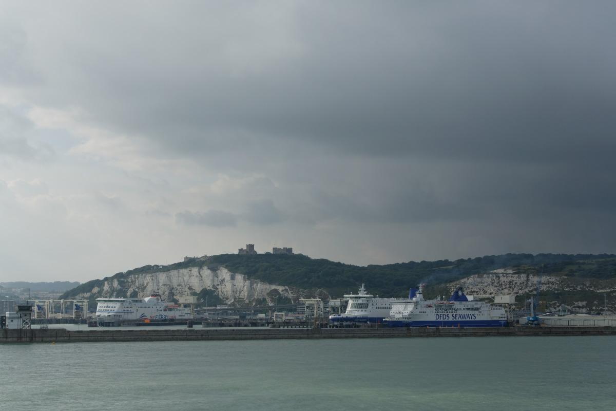 Arrivée sur les côtes anglaises