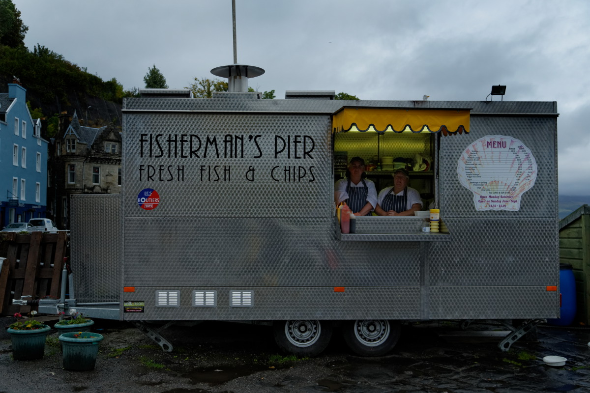 Fish and chips de Tobermory