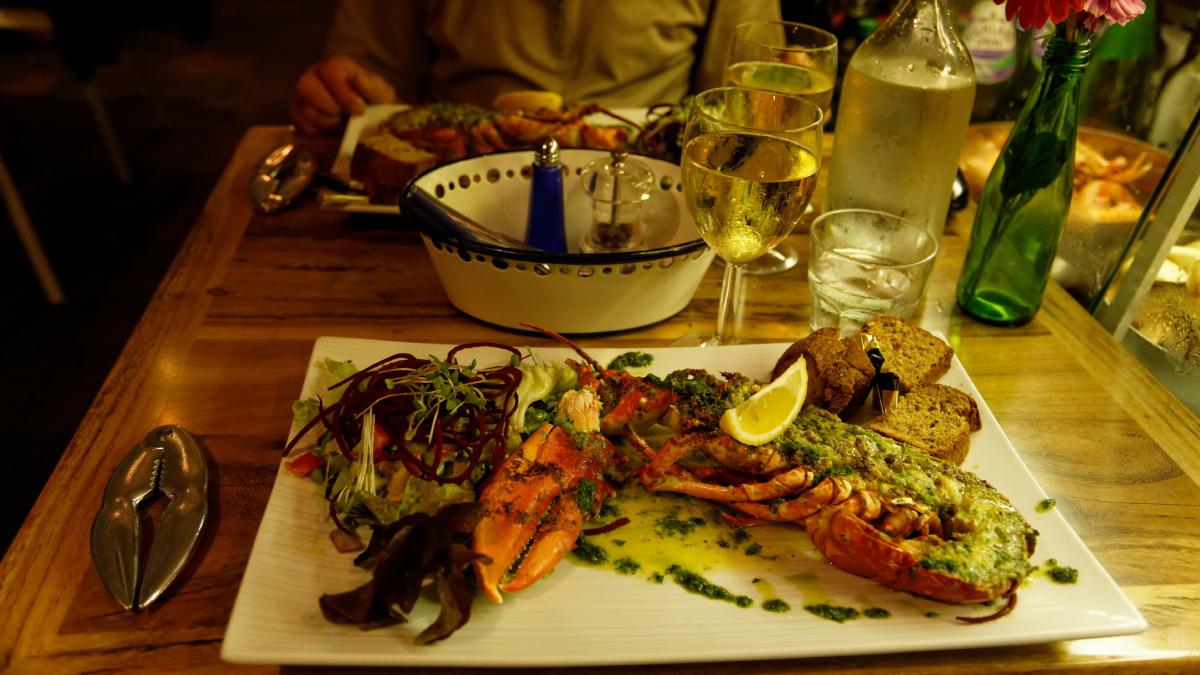 Degustation de homard au Café Fish