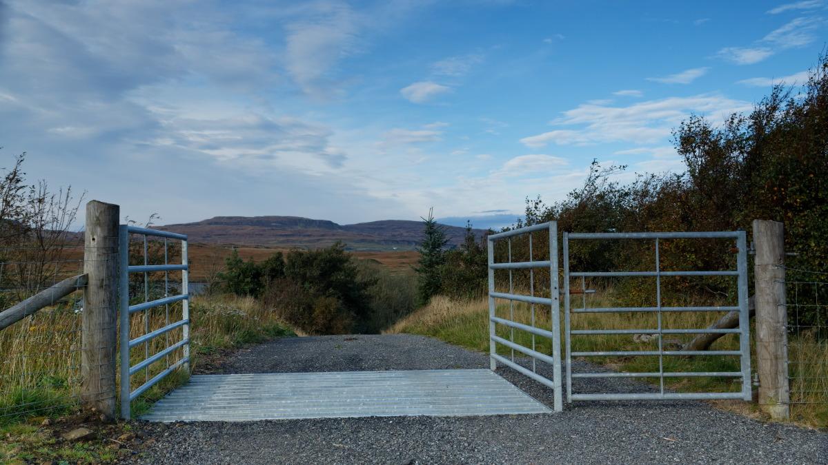 Cattle grid - Ile de Skye