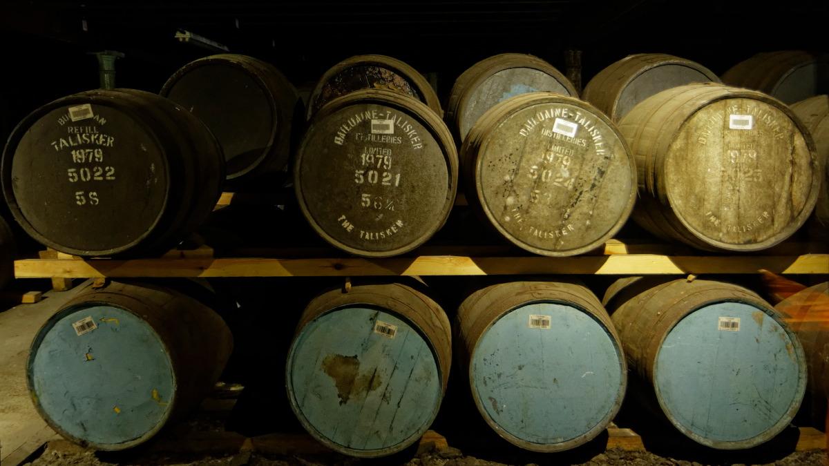Talisker Distillery : maturation du whisky
