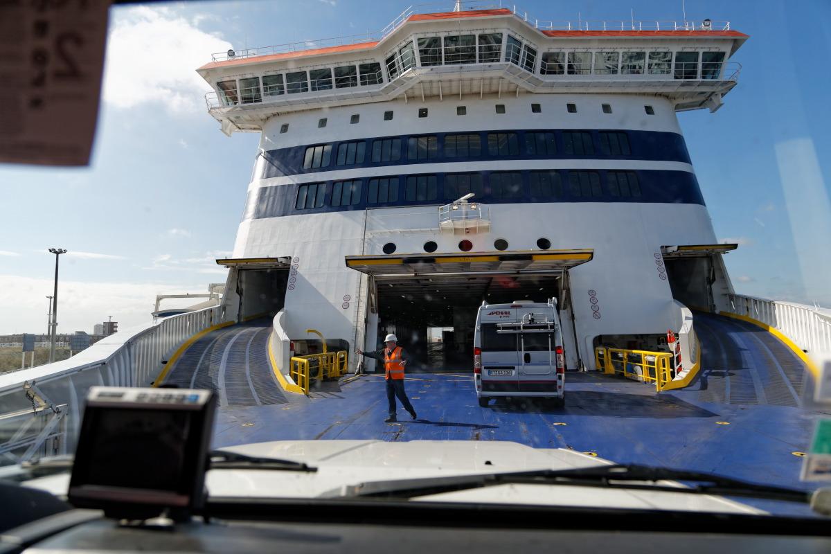 Premier ferry, Calais-Douvres avec la compagnie P&O